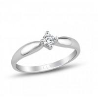 Prsten z bílého zlata s briliantem RMD1002 Velikost prstenu: 52