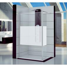 SanSwiss FUD2 1000 50 51 Pevná stěna s krátkou otočnou stěnou 100 cm, aluchrom/linie