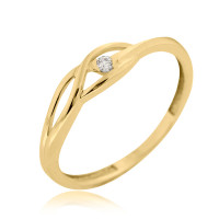 Couple Zlatý dámský prsten Rhonda 4515045 Velikost prstenu: 50