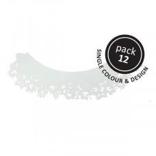 PME Obal na cupcake, mufiny, Bílé květiny, 12ks