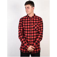 Rip Curl CHECK IT MINERAL RED pánská košile dlouhý rukáv - XL