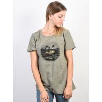 Billabong SLIDE olive dámské tričko s krátkým rukávem - L
