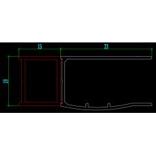 Rozšiřovací profil 15 mm pro sérii Melody D1, Melody D2, Melody B8 a Melody S4