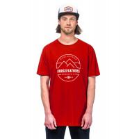 Horsefeathers TRENT RED pánské tričko s krátkým rukávem - XXL
