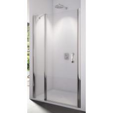 SanSwiss SL13 0900 50 22 Sprchové dveře jednokřídlé s pevnou stěnou 90 cm, aluchrom/durlux