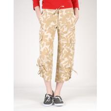 Quiksilver QLWWP143 BEI plátěné sportovní kalhoty dámské - S