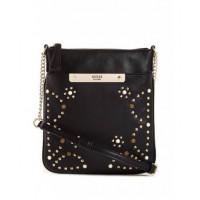 GUESS kabelka Britta Embellished Mini Tourist Cross černá vel.