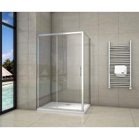 Obdélníkový sprchový kout SYMPHONY 120x80 cm s posuvnými dveřmi včetně sprchové vaničky z litého mramoru