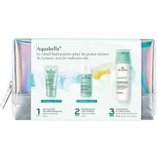 Nuxe Nuxe Aquabella Beauty-Revealing hydratačná Emulze 50 ml + čistící gel 15 ml + Pleťová voda 35 ml + kozmetická taštička dárková sada
