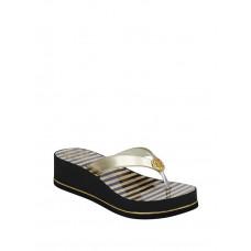 GUESS žabky Enzy Striped Platform Flip Flops zlaté vel. 36