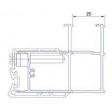 SanSwiss ACSL2 profil k rozšíření dveří na straně pantů ke zdi o 25 mm MOBILITY ,SWING-line