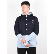 Picture Picolo dark blue pánská košile dlouhý rukáv - XL