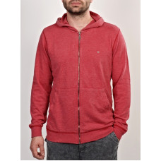 MAKIA FLAG ZIP UP HOODED S GRANITA pánská mikina - L