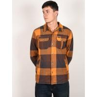 Animal SILVERSTOE COFFEE BROWN pánská košile dlouhý rukáv - L