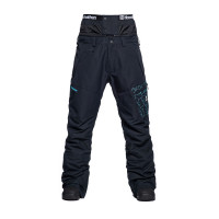 Horsefeathers CHARGER EIKI CRACKED BLACK zateplené kalhoty pánské - M