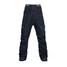 Horsefeathers CHARGER EIKI CRACKED BLACK zateplené kalhoty pánské - S