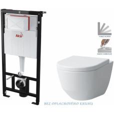 ALCAPLAST - SET Sádromodul - předstěnový instalační systém určený pro suchou instalaci 1,2 m + WC LAUFEN PRO RIMLESS + SEDÁTKO (AM101/1120 X LP1)