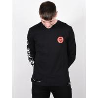 Element FLORIAN FLINT BLACK pánské tričko s dlouhým rukávem - M