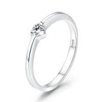OLIVIE Stříbrný prsten SRDÍČKO 3394 Velikost prstenů: 9 (EU: 59 - 61)