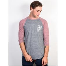 Etnies Stack Box GREY/RED pánské tričko s dlouhým rukávem - M