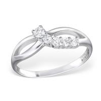 OLIVIE Stříbrný prsten se zirkony 0664 Velikost prstenů: 8 (EU: 57 - 58)