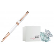 Rollerball Montblanc Meisterstuck White Solitaire Red Gold Classique 113324