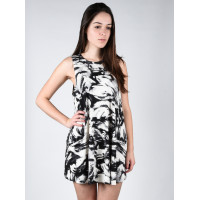 RVCA SUCKER PUNCHED Vintage White společenské šaty krátké - S