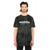 Horsefeathers QUARTER gray tie dye pánské tričko s krátkým rukávem - XL