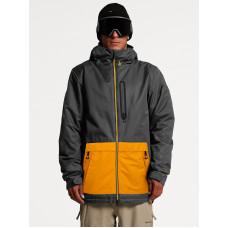 Volcom Deadlystones Ins DARK GREY zimní bunda pánská - XL