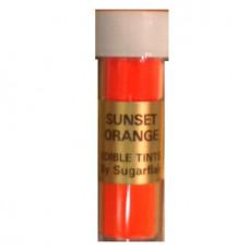 Sugarflair Jedlá prachová barva Sunset orange (Tmavě oranžová), 7 ml