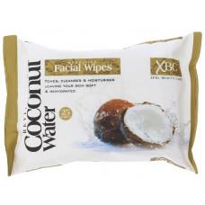 Xpel Coconut Water Hydrating Facial Wipes čistící ubrousky na odstranění make-upu 25 ks