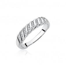 OLIVIE Stříbrný prsten se zirkony 1955 Velikost prstenů: 8 (EU: 57 - 58)