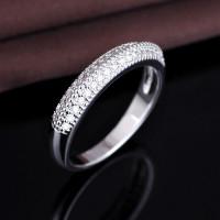 OLIVIE Stříbrný prsten s čirými zirkony od Olivie 2181 Velikost prstenů: 5 (EU: 47 - 50)