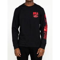 RVCA BARBARIAN black pánské tričko s dlouhým rukávem - M