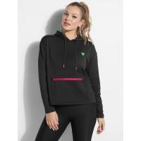 GUESS mikina Neon Logo Hoodie černá vel. M