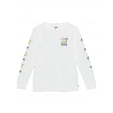 Billabong BBTV white dětské tričko s dlouhým rukávem - 12