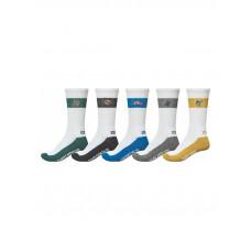 Globe TEAM CREW 5 PK moderní barevné pánské ponožky - 7-11