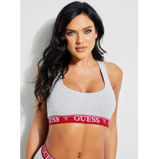 GUESS podprsenka GUESS X Amanda Cerny Logo Band Sports Bra šedá vel. S
