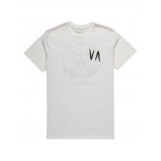 RVCA RVCA BEAR ANTIQUE WHITE pánské tričko s krátkým rukávem - M