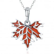 OLIVIE Stříbrný náhrdelník JAVOROVÝ LIST 4463