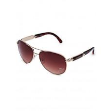 GUESS brýle Mirrored Aviator Sunglasses hnědé vel.