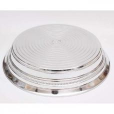 Stojan dortový Stříbrný 35cm Kruh Plast