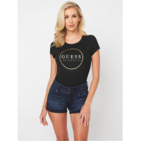GUESS tričko Gigi Logo Crewneck Tee černé vel. M