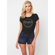 GUESS tričko Gigi Logo Crewneck Tee černé vel. XS