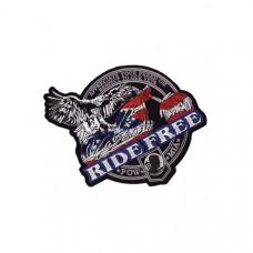 Nášivka zádovka Ride Free 26x24cm - 34264