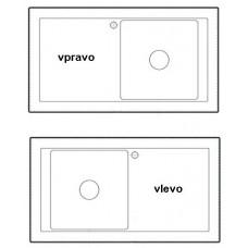 Sinks vyvrtání otvoru typ: vlevo