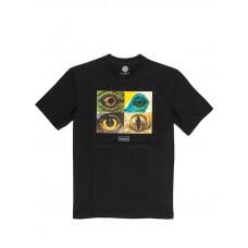 Element OPTICAL FLINT BLACK pánské tričko s krátkým rukávem - M