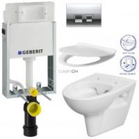 GEBERIT - SET KOMBIFIXBasic včetně ovládacího tlačítkaDELTA 50 CR pro závěsné WC CERSANIT CLEANON PARVA + SEDÁTKO (110.100.00.1 50CR PA2)
