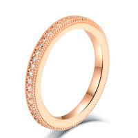 OLIVIE Stříbrný prstýnek ROSE AMAZING 4704 Velikost prstenů: 7 (EU: 54 - 56)