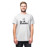 Horsefeathers OMERTA ASH pánské tričko s krátkým rukávem - L